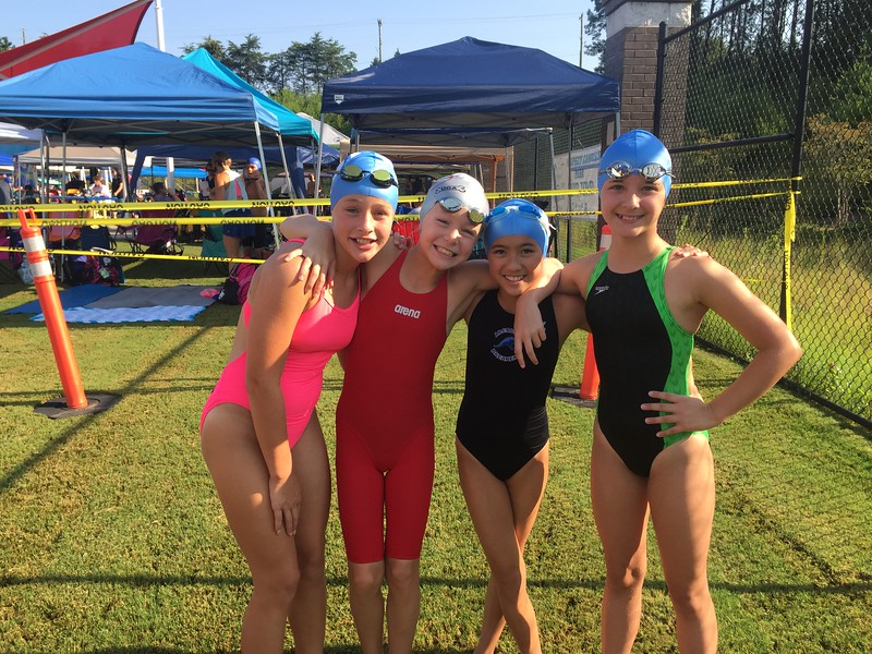 2017 0721 52 Forsyth county State Relay team for Medley and Free