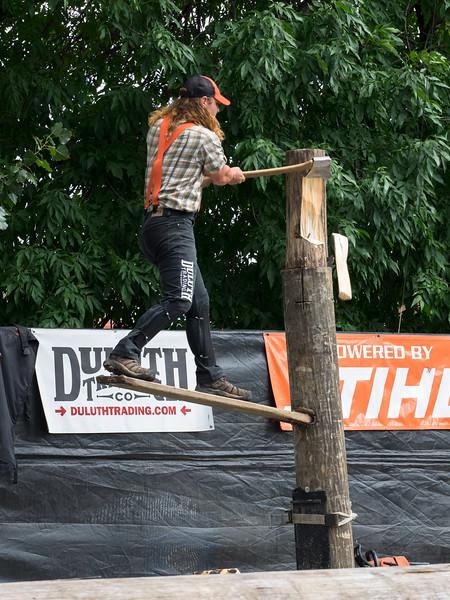 Lumberjack show, MN state fair