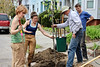 "Cassie Tharinger (left hand steadying tree), was a great help. She heads the Providence Neighborhood Planting Program ( <a href=""http://www.pnpp.org"">http://www.pnpp.org</a>). Whitman Littlefield (blue shirt, right) is the great-grandson of Mary Elizabeth Sharpe."