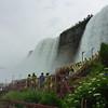 From left to right, American Falls, Luna Island, Bridal Veil Falls.