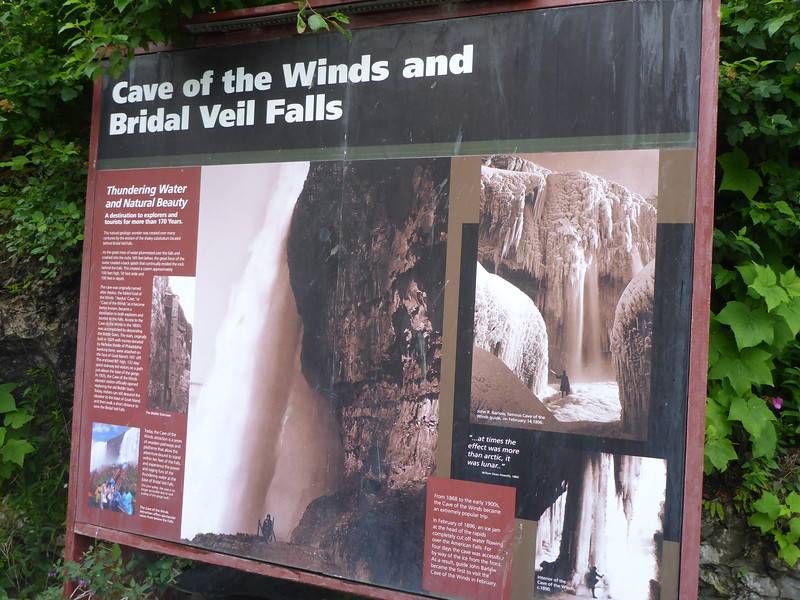 After leaving the observation deck, we headed over to Goat Island to walk the Cave of the Winds and see Bridal Veil Fall from below.