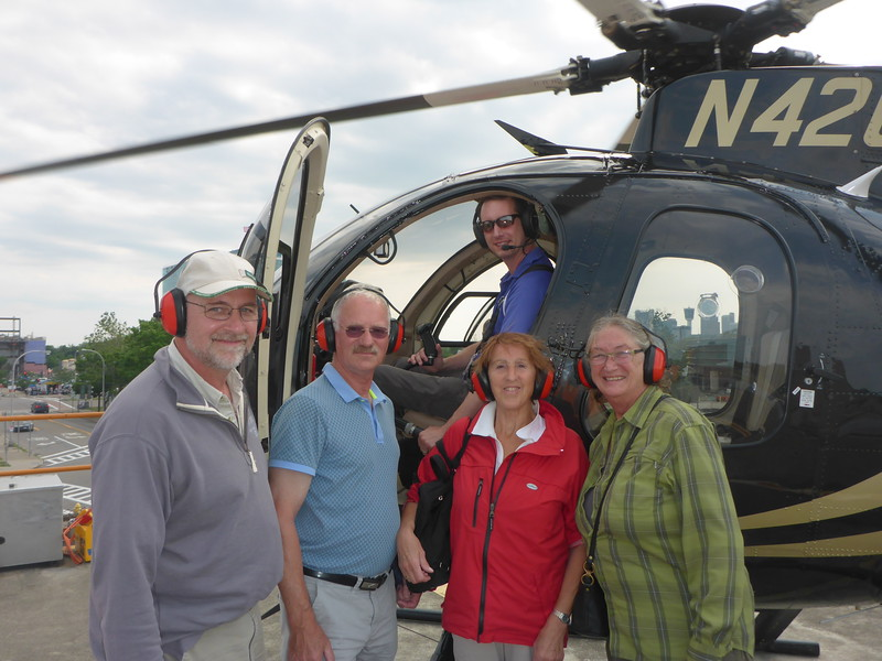 Our next adventure: a Hubschrauber flight over Niagara Falls!!!  What fun!