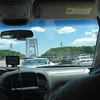 Crossing the George Washington Bridge from New Jersey to New York