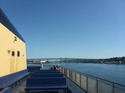 Ferry leaving New London -