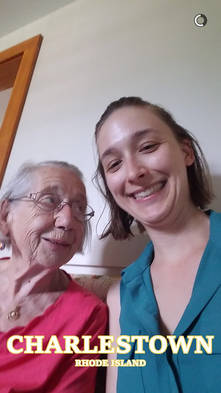 A few borrowed pictures to start this album - Jess and her Oma