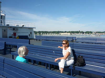 Chatting on the ferry - another beautiful day