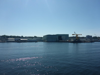 Electric Boat factory (where US u-boats are built).