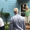Tante Lilly waving goodbye