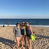 Freddy, Barbara and Jess on the beach on Monday