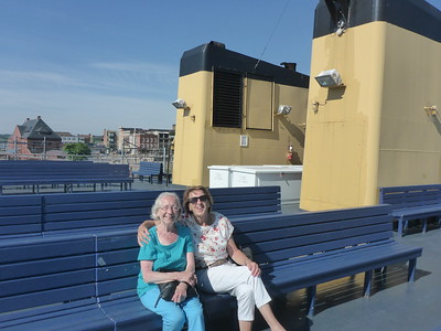 Lilly and Hannelore on the ferry