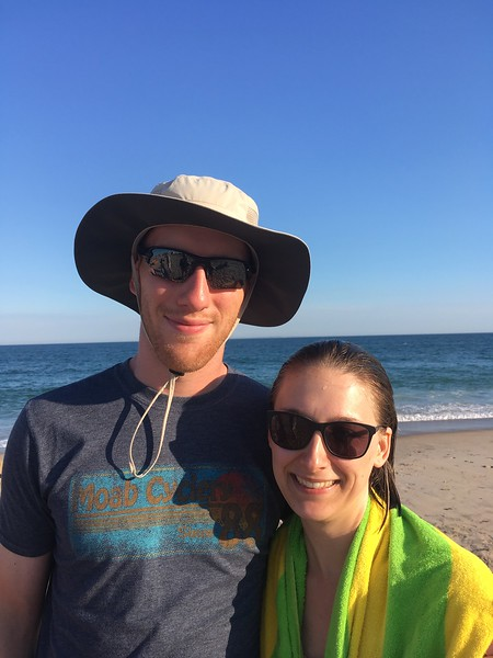 Tom and Jess on the beach