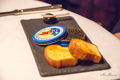 A Tin of Sin: Royal Osetra Caviar with Sweet Crab and Cucumber Rillette
