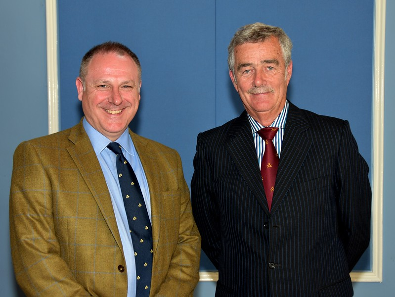 Guest Speaker: Lt Col Andrew Hart OBE (Retd) pictured with Brigadier General Paul A Pakenham (Retd), Chairman, Military Heritage Ireland Trust.