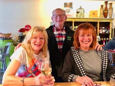 Kathy Collier, Ann & Russell Bellmor At Blue Ridge Cellar Wine Bar - Blue Ridge, GA 12/30/18
