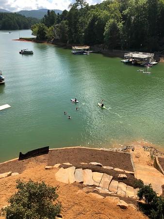 Tom O'Barr & Russell Bellmor Kayaking O'Barr's Blue Ridge Lake House 9/2/18 02