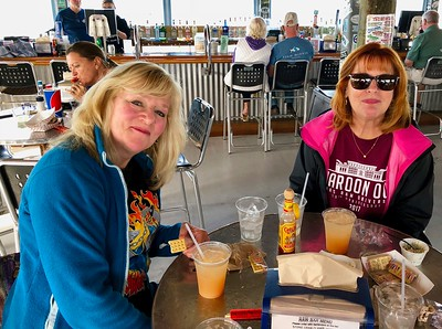 Kathy Collier & Ann Bellmor Keys Fisheries Bar & Restaurant Hammocks Resort Marathon Florida Keys January 2018