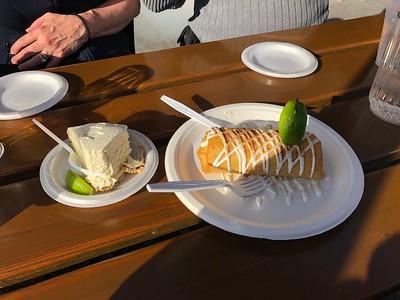 Key Lime Pie & Fried Key Lime Pie Burdines Restaurant Marathon Florida Keys January 2018