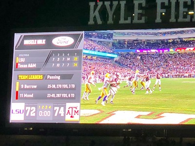 Texas A&M vs LSU Football Game (7) Overtimes 11/24/18 04