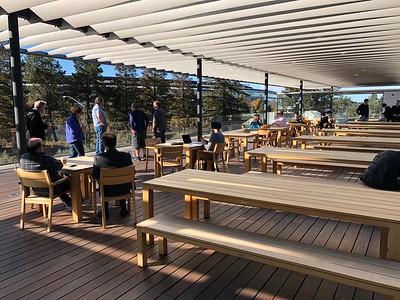 Apple Park's Visitors Center Second Floor Terrace February 2018