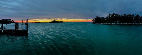 View From Hammocks Resort Marathon Florida Keys Panorama January 2018