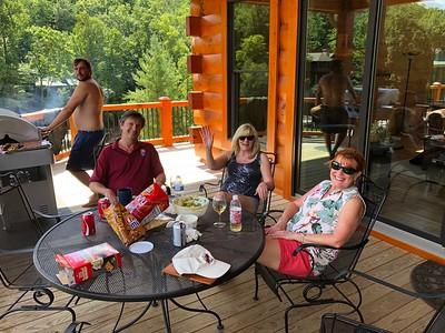Kyle & Tom O'Barr, Kathy Collier & Ann Bellmor At O'Barr's Blue Ridge Lake House 9/2/18