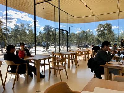 Apple Park's Visitors Center Cafe Area February 2018