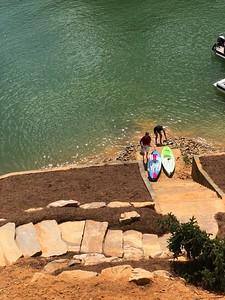 Tom O'Barr & Russell Bellmor Kayaking O'Barr's Blue Ridge Lake House 9/2/18 03
