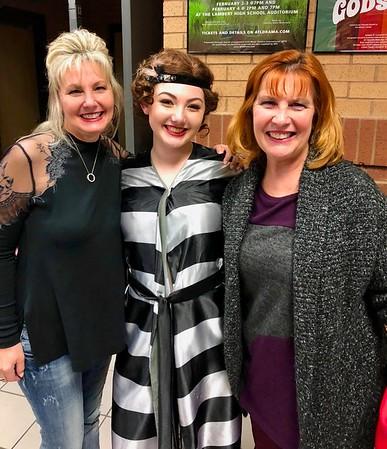 """Karen Ledford, Nikki Adler & Ann Bellmor At Nikki's Last Play of """"Chicago"""" Lambert HIgh School March 10, 2018"""