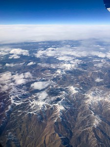 View Of The Rockies In California From Russell's Flight From San Jose To Atlanta 2-14-18