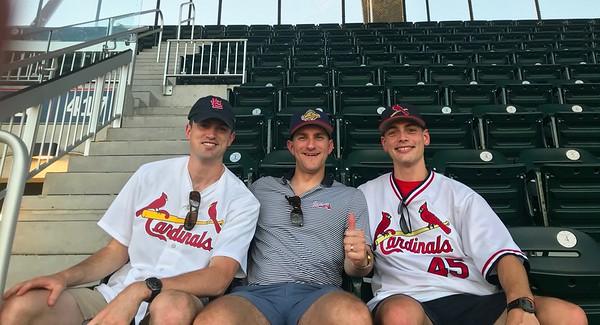 Jeff, Morgan & Connor At Atlanta Braves & Cardinal Baseball Game 9-17-18