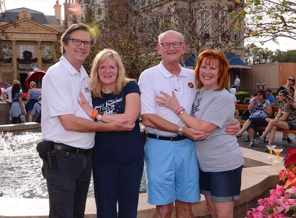Tom O'Barr & Kathy Collier and Ann & Russell Bellmor Disney World December 2018 09