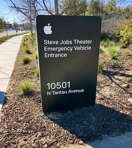 Apple Park Campus Steve Jobs Theater Emergency Entrance 2-13-18