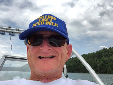 Russell Bellmor Selfie Boating On  Blue Ridge Lake 8/19/18