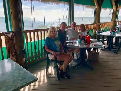 Kathy & Tom O'Barr With Russell & Ann Bellmor Sunset Bar & Grille Marathon Florida Keys January 2018