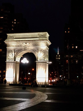 Washington Square Arch & Empire State Building Morgan's Trip To New York City March 2018
