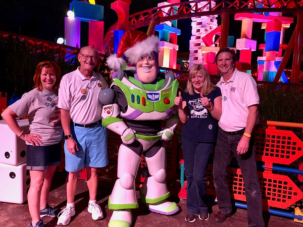 Ann & Russell Bellmor and Kathy Collier & Tom O'Barr With Buzz Lightyear Disney World December 2018 15