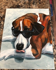 Painting Of Cooper Emma & Morgan's Dog October 2018