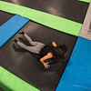 trampoline burpees!  Always time for a workout for Kim