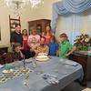 Bryan, Chad, Crystal, Shirley, Chris, Jenny, Matthew, Spencer, celebrating Chris' birthday at Easter, 4/1/2018