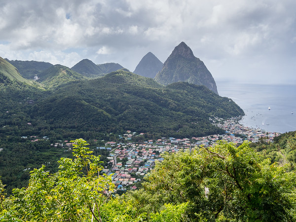 The Pitons, Soufriere, St. Lucia