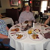 Shirley Gould, Roger Block, Roger's friend, Judy Adams, dinner at Ray's in Alpharetta, GA, 5/19/2018