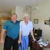 Ken and Frank Gould, age 96, at his apartment, Mooresville, NC, 5/22/2018,