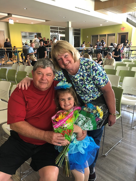 Ken, Shirley Gould and Lillie Kline, Lillie's dance recital, GA, 5/19/2018
