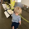 Examining a model at UCLA School of Design