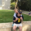 Jon and Papa, UCLA campus