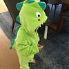 Dinosaur Walter on Halloween