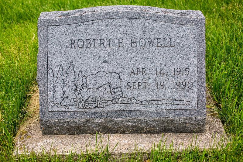 Howell Gravestones. Robert E. Howell.