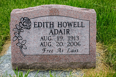 Howell Gravestones. Edith Adair Howell