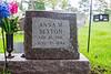Gravestones. Anna M. Sexton.