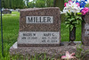 Gravestones. Waldo W. & Mary G. Miller.